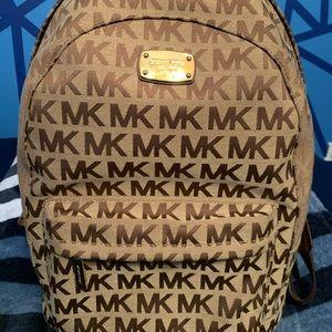 Michael Kors Brown logo backpack